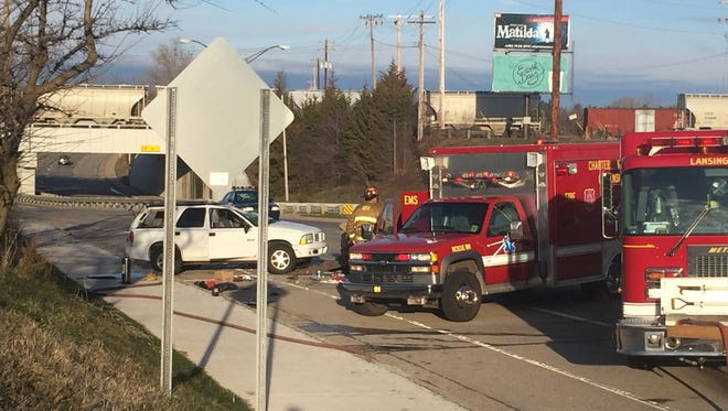 Emergency crews responded to a rollover crash this morning on eastbound Saginaw Highway.