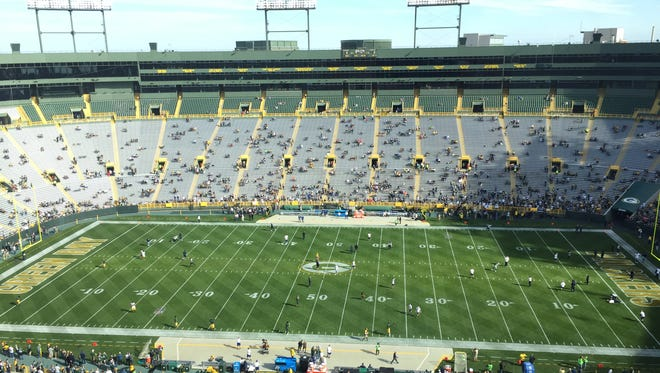 Lambeau Field before the Packers-Cowboys game