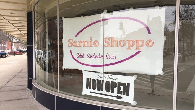 The Sarnie Shoppe inside the Knapp's Centre closed Wednesday after roughly five months in business.