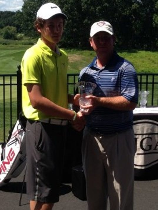Gus Minkin finished tied for fifth at last weekend's AJGA all-star event in New Jersey. (SUBMITTED)