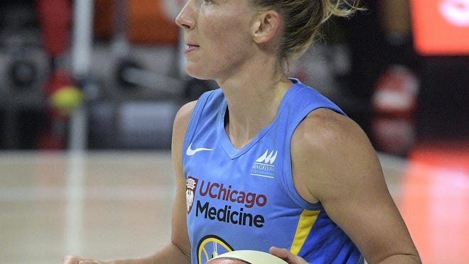 Chicago Sky guard Courtney Vandersloot in an Aug. 18 file photo from  Bradenton, Fla.