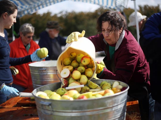 See cider made on a hand press, enjoy a free tour of the 1861 Brunk House, stroll the gardens, fiddle music, free crafts, activities and apple desserts for purchase.