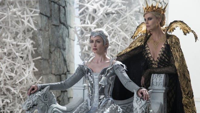"Charlize Theron and Emily Blunt in ""The Huntsman: Winter's War."" The movie opens Thursday at Regal West Manchester Stadium 13, Frank Theatres Queensgate Stadium 13 and R/C Hanover Movies."