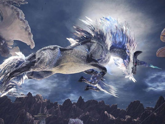 "Say hello to Monster Hunter World's Arch-Tempered Kirin, the living embodiment of AC/DC's song ""Thunderstruck."""