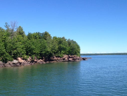 relay race in lake superior to challenge swimmers