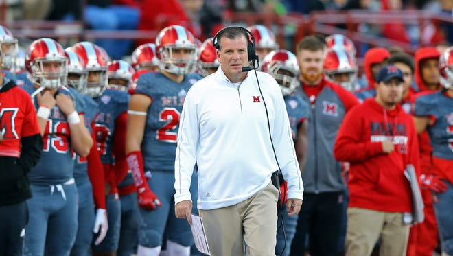 Miami (Ohio) coach Chuck Martin guided the RedHawks to their first bowl berth since 2010.