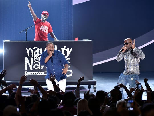 DJ Kay Gee, Vin Rock, and Treach of Naughty by Nature