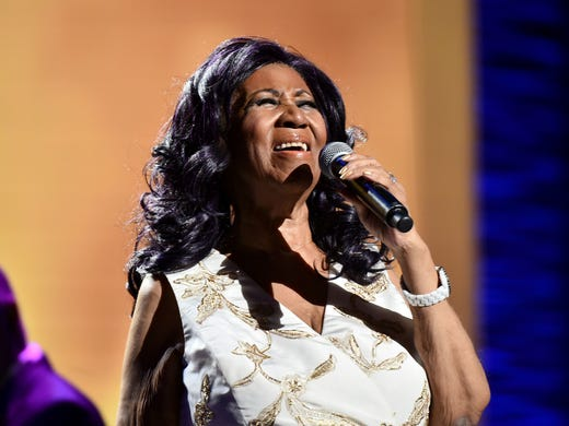 "Aretha Franklin during the ""Clive Davis: The Soundtrack"