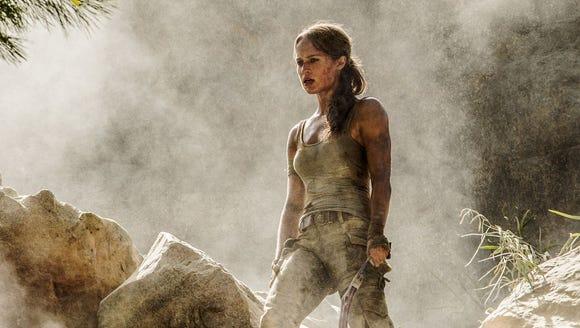 Alicia Vikander as Lara Croft in a scene from 'Tomb