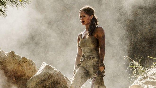 Alicia Vikander as Lara Croft in a scene from 'Tomb Raider.'