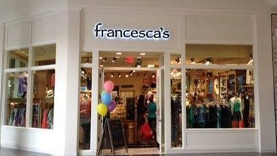 Women's boutique Francesca's Collections has opened at The Empire Mall.