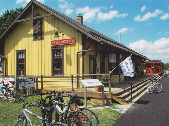 The New Freedom Rail Trail Cafe, which is part of the