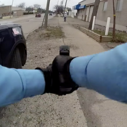 This image shows a clip of video footage Lansing officials