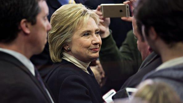 Hillary Clinton in Hooksett, N.H., on Feb. 9, 2016.