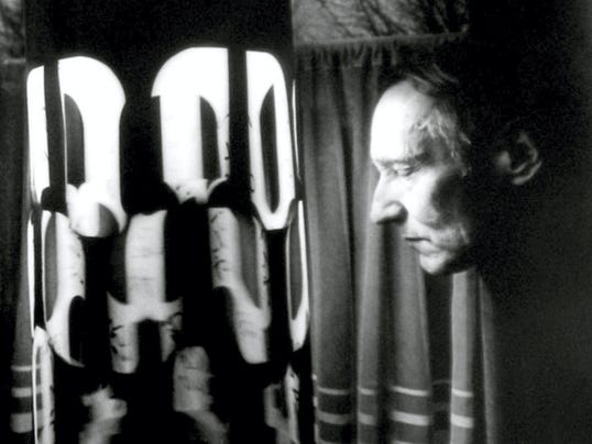 Poet William S. Burroughs stares deeply into the Dreamachine to get inspiration for his hallucinatory writing.
