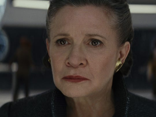 General Leia Organa (Carrie Fisher) in 'Star Wars: The Last Jedi.'