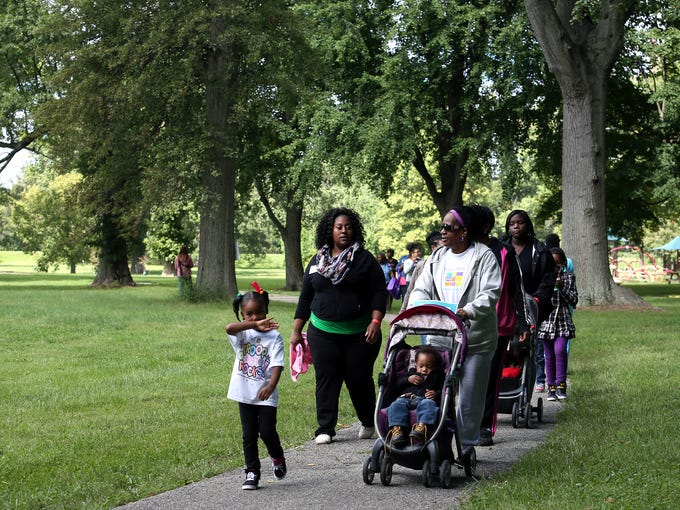 The Baby Buggy Walk was an event to promote and educate healthcare for mothers and their children.   Sept. 13, 2014