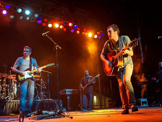 Phillip Phillips performs at Salt River Fields on Thursday, July 3, 2014, in Scottsdale.