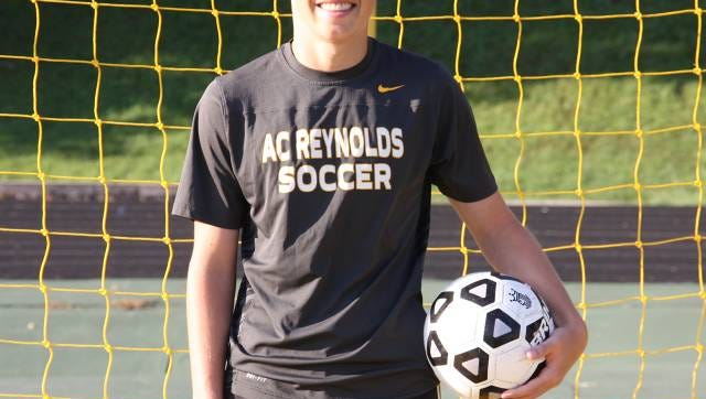 Reynolds goalkeeper Parker Johnson.