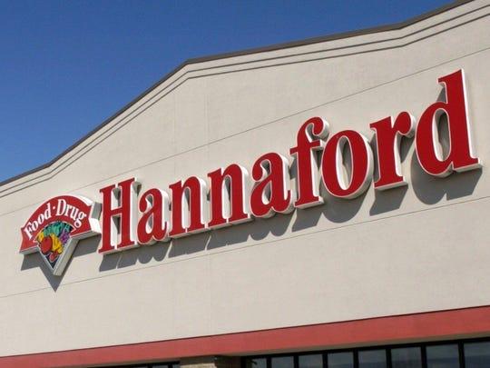 The facade of a Hannaford supermarket.