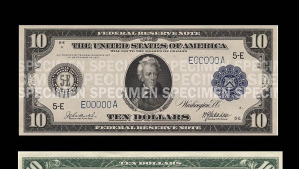 How $10 dollar bill has changed through the years