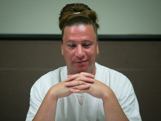 Charles Smith, a transgender inmate at the James T. Vaughn Correctional Center, is shown. The 38-year-old inmate has petitioned for a name change, to Charlese Anne Smith.