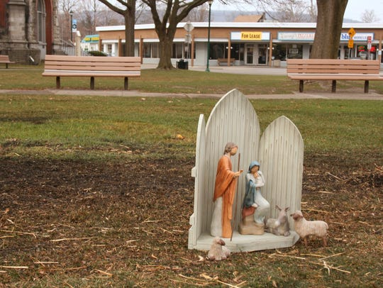 A small Nativity scene had been set up Nov. 6 to replace