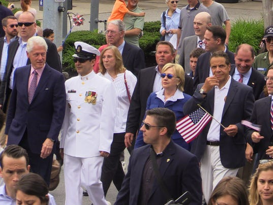 Hillary and bill clinton andrew cuomo march in chappaqua Bill clinton address chappaqua