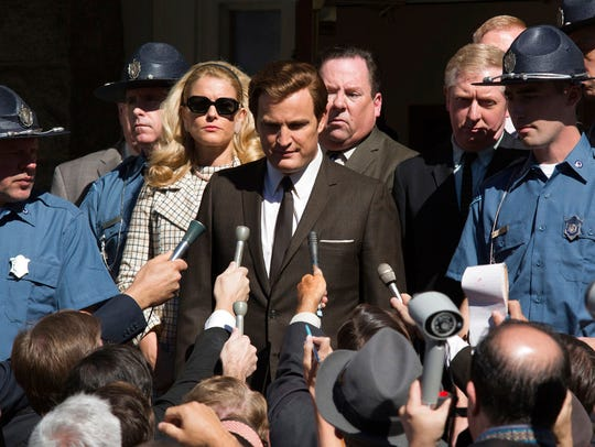 Jason Clarke as Ted Kennedy, center, and Andria Blackman
