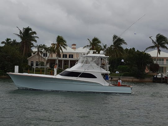 Toast, owned by Jared and Michael Gillman of Palm Beach, and captained by Newt Cagle of Fort Pierce, return to Sailfish Point Marina Sunday after catching four sailfish to win the 63rd annual Light Tackle Tournament with 14 total sailfish in three days.