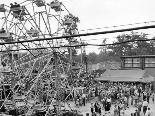 The Ferris wheel thrilled riders adding their shouts