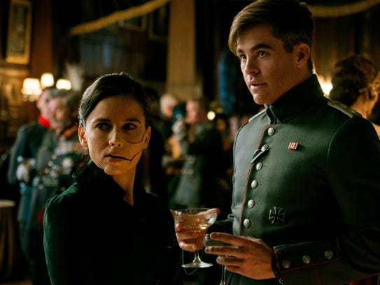 American spy Steve Trevor (Chris Pine) tries to ply