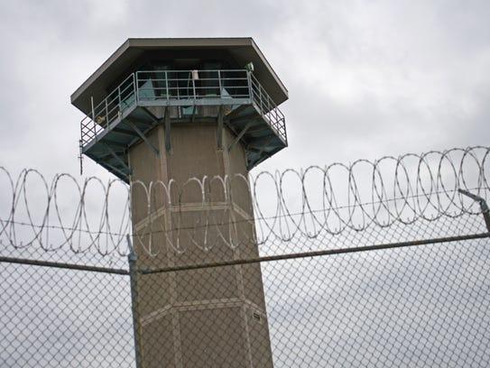 A security tower at James T. Vaughn Correctional Center.