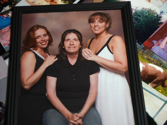 (left to right)Family photograph of Crystal Waddell,