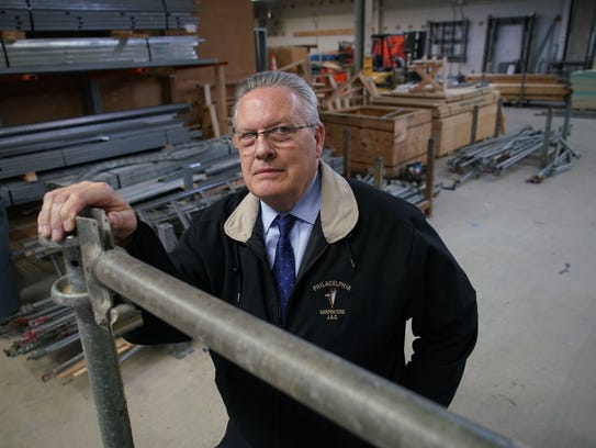 Charles Brock, director of Carpenters Joint Apprenticeship committee of Philadelphia and vicinity, stands inside the Carpenters Local 626 Joint Apprentice Training facility.