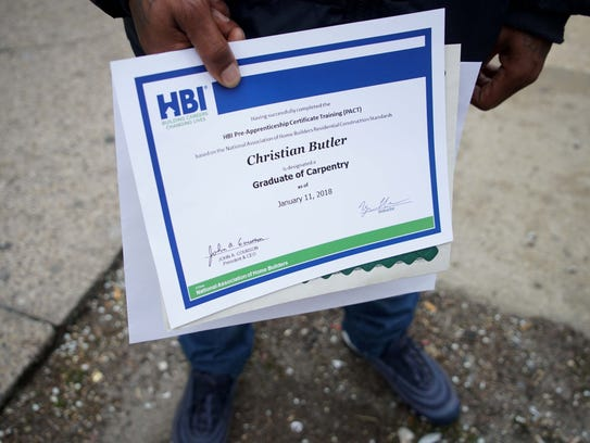 Christian Butler, a graduate of Interfaith Community