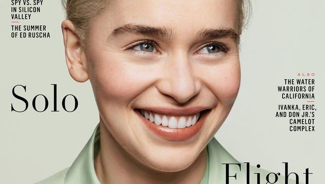 Emilia Clarke covers 'Vanity Fair' magazine's summer issue.