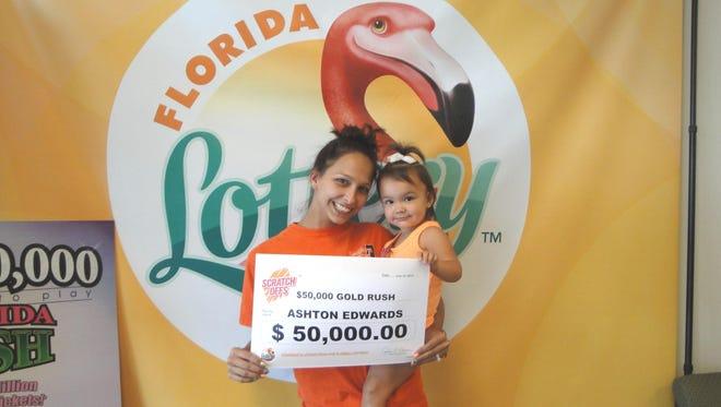 $50,000 Gold Rush scratch-off winner Ashton Edwards, of Jay.