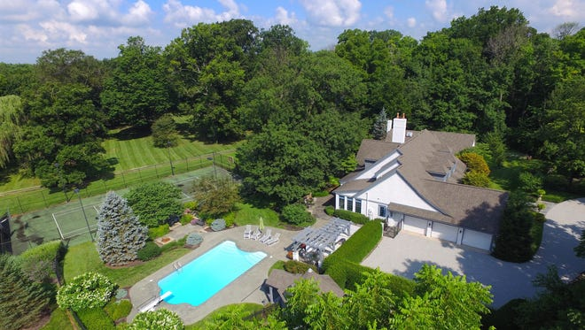 An aerial view of 6790 Dean Road. The four-acre property is listed for $1.3 million.