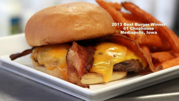 The 2013 Best Burger winner was from the 61 Chophouse in Mediapolis, Ia.