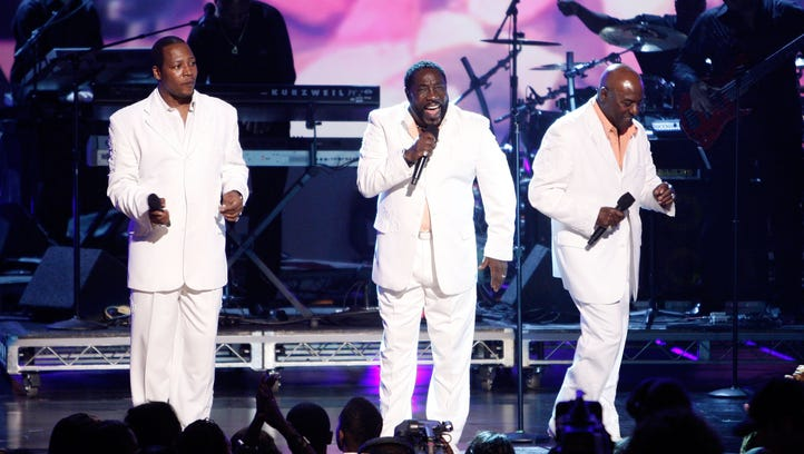 Singers Eric Grant, Eddie Levert and Walter Williams of the O'Jays perform onstage during the 2009 BET Awards held at the Shrine Auditorium on June 28, 2009 in Los Angeles, California.