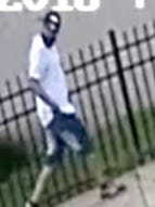 Law enforcement officials released this surveillance footage of a man seen leaving the area after a man was gunned down in August in Camden.