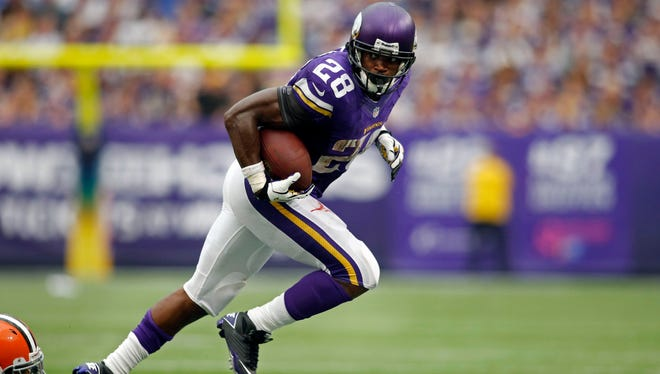 Vikings RB Adrian Peterson hasn't lit up the box scores yet in 2013, but he is actually ahead of his personal pace from 2012.