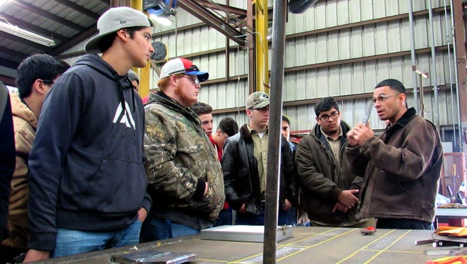 Hammons Educational Leadership Program's Career Club at Veterans Memorial High School recently visited welding experts at Wildcat Precision.