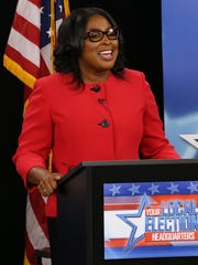 Rochester Mayor Lovely Warren during the mayoral debate at WROC.