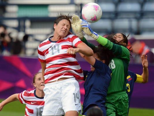 Olympics: Soccer-Women's Preliminary-USA vs COL
