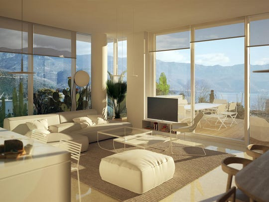 Interior of an apartment at the Dukley Beach Residence in Montenegro.