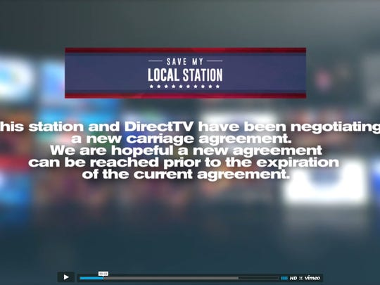 A video created by NPG Co. tells customers that they have not yet reached a new carriage agreement with DirecTV. The full video is available at www.npgco.com/savemylocalstation.
