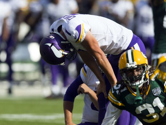 USP NFL: MINNESOTA VIKINGS AT GREEN BAY PACKERS S FBN GB MIN USA WI