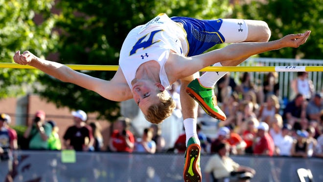 Zach Dybul of Mukwonago takes third place in the Division 1 high jump with a mark of 6 feet, 6 inches. Dybul is also on Mukwonago's golf team that has qualified for state.